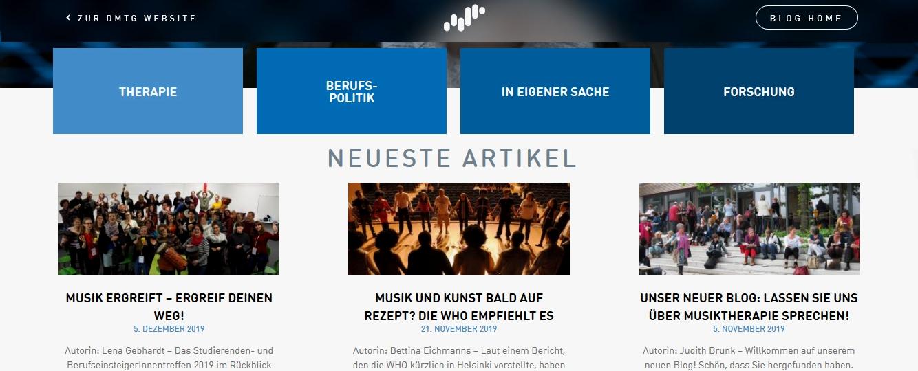 Musiktherapie Blog der Deutschen Musiktherapeutischen Gesellschaft DMtG