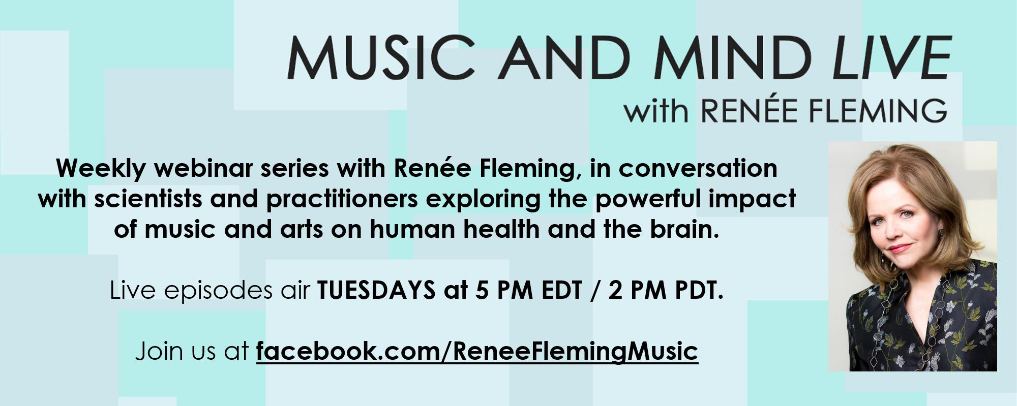 Renée Fleming Webinar Music and Mind Facebook-Header